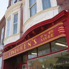 Lindgren store sign