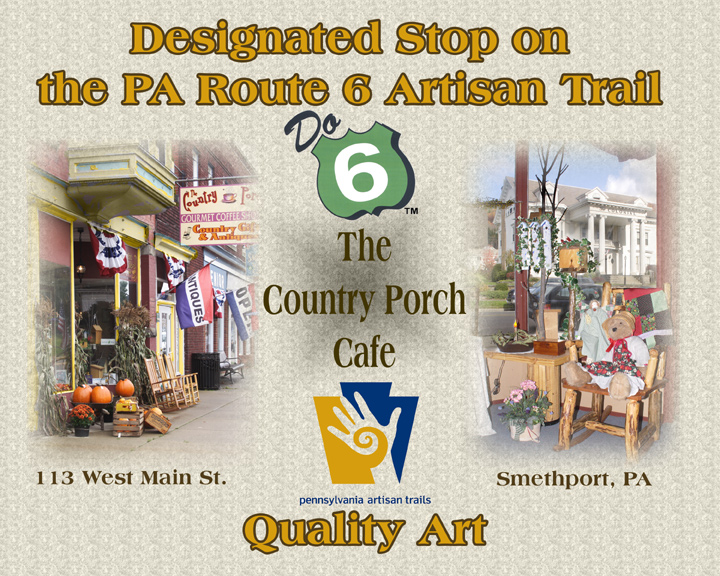 Route 6 Artisan Trail - The Country Porch Cafe