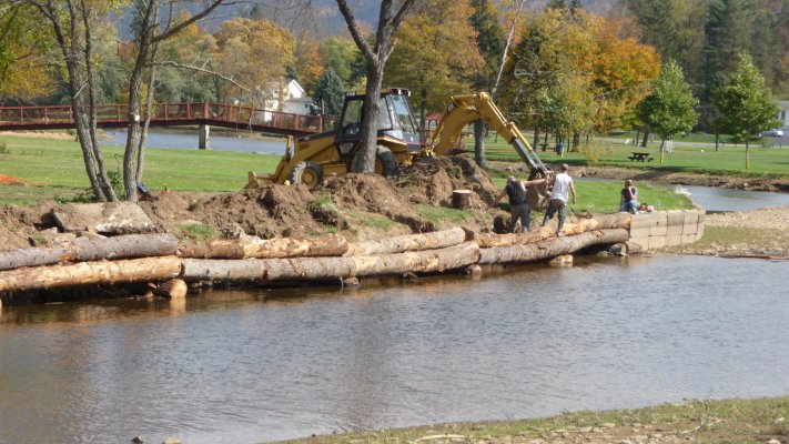 Stream Bank Stabilization Underway Along Marvin Creek