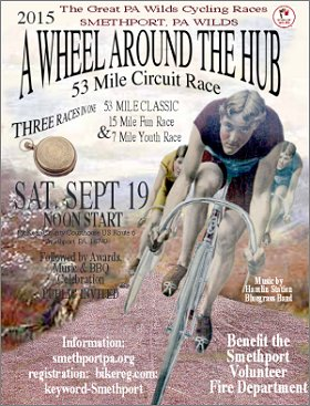 Wheel Around the Hub Bicycle Races Coming Saturday, September 19th