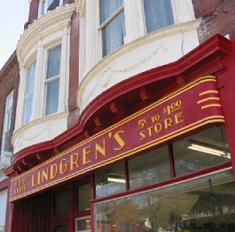 Lindgren store sign